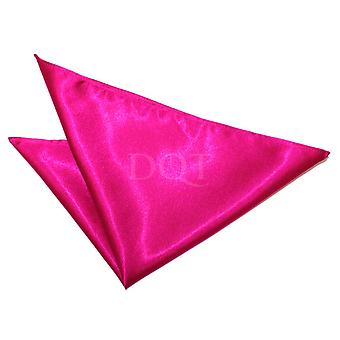 Fazzoletto in raso rosa caldo pianura / Pocket Square