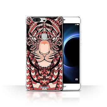 STUFF4 Tilfelle/Cover for Huawei Honor V8/Tiger-Red/Aztec dyr