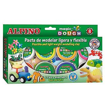 Alpino Dough Magic 8X14Gr. (Toys , Educative And Creative , Arts And Crafts , Dough)