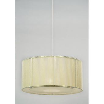 Endon NE-92-CR Cream String Non-Electrical Pendant With Diffuser