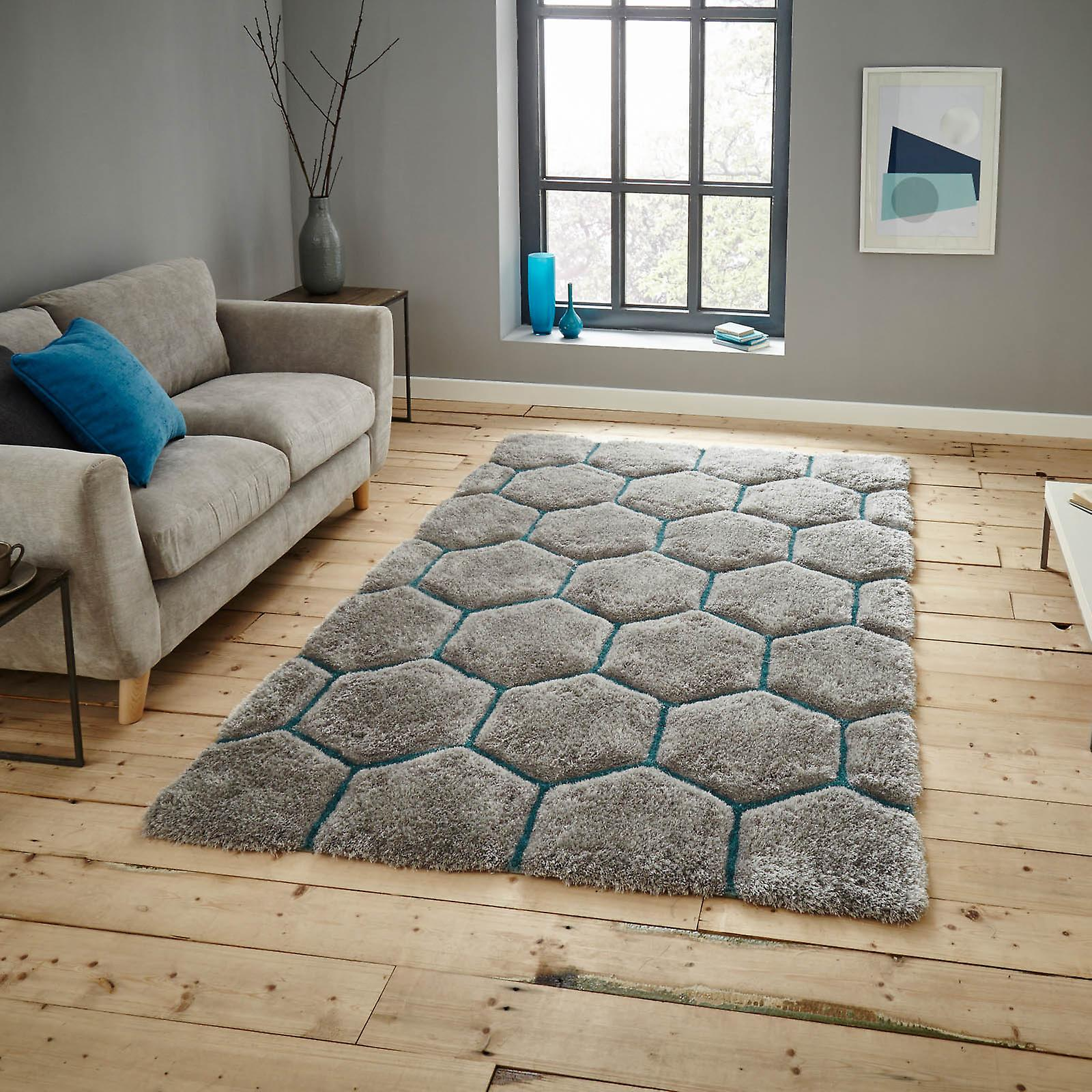 Nh30782 tapis maison noble en bleu gris