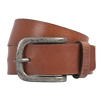 MUSTANG belts men's belts leather belt Cognac 2216