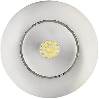 LED flush mount light 7 W Warm white JEDI Lighting Integra JE12617 Aluminium (brushed)