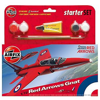Airfix RAF Red Arrows Gnat 1/72 Scala Starter Set