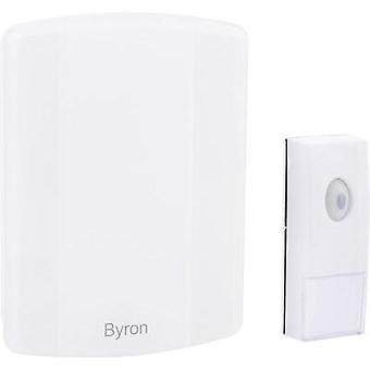 Wireless door bell Complete set with USB connection, recordable Byron B002E