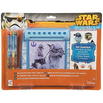STAR WARS | Deluxe Roll & aller colorier Set Papeterie Bureau