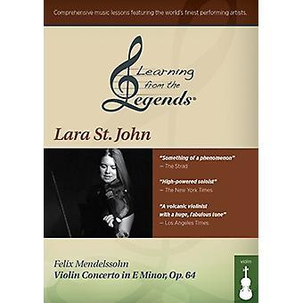 Læring fra legender: Mendelssohn Violin Con [DVD] USA import