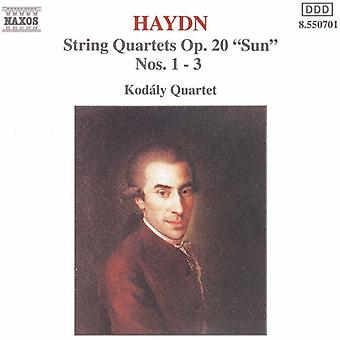 J. Haydn - Haydn: String Quartets, Op. 20 Sun, Nos. 1-3 [CD] USA import