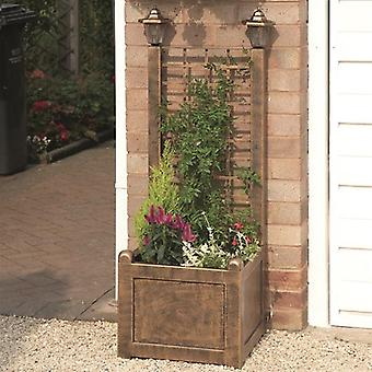 Gablemere Trellis Planter with Solar Lanterns