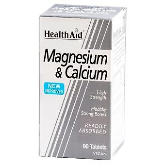Health Aid Magnesium with Calcium 90 Tablets (Vitamines en Suplementen , Multinutrients)