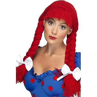 Dolls wig red coarse doll Dolly wig