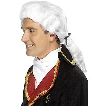 Judge wig Baroque gentleman gentlemen wig with white braid
