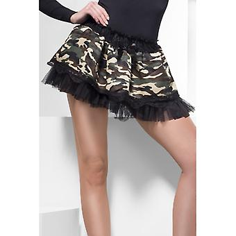 Tutu Rock Girlie Unterrock Camouflage Military Look