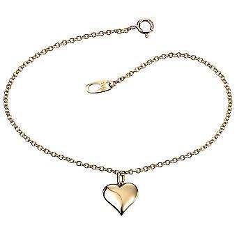 9 ct золотое сердце браслет