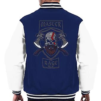 Master The Rage Kratos God Of War Men's Varsity Jacket