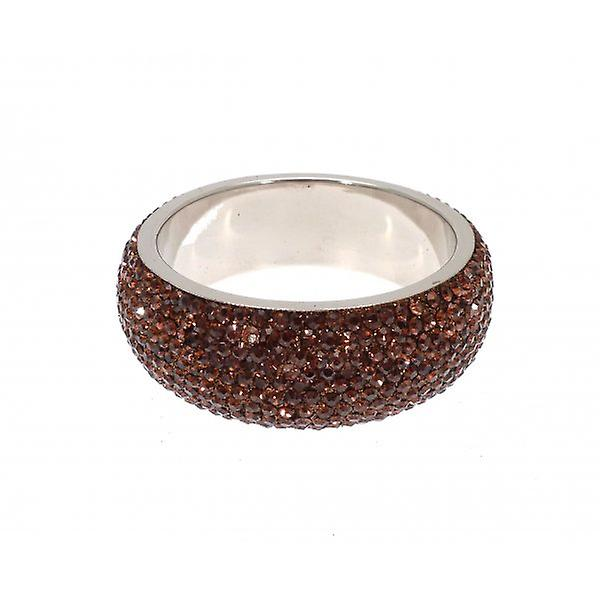 W.A.T Chunky Crystal Bangle Dark Brown Crystals