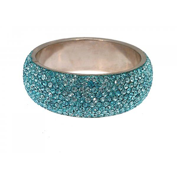 W.A.T Chunky Crystal Bangle Turquoise Blue Crystals