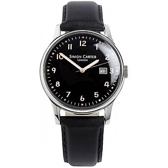 Simon Carter Raised Numerals Watch - Black