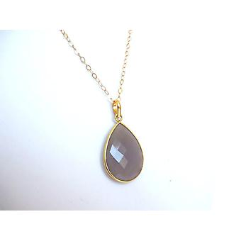 Gemstone Moonstone necklace Moonstone necklace gold plated