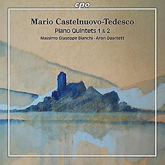 Castelnuovo-Tedesco / Bianchi / Aron Quartett - Piano kvintetter 1 & 2 [CD] USA import