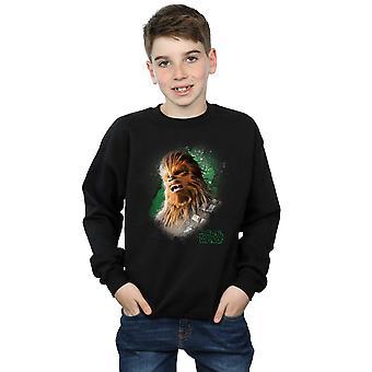 Star Wars Boys The Last Jedi Chewbacca Brushed Sweatshirt