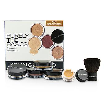 Youngblood Purely The Basics Kit - #Tan (2xFoundation, 1xMineral Blush, 1xSetting Powder, 1xBrush, 1xMineral Powder) 6pcs