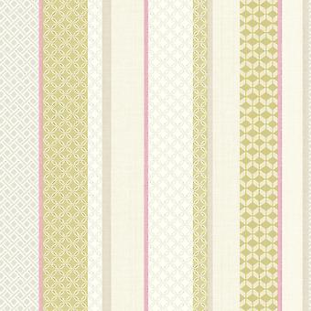 Amaya Stripe Wallpaper Geometric Modern Luxury Pink & Lime Holden Decor