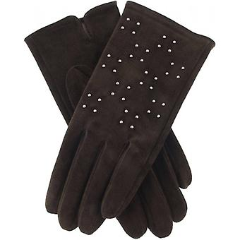 Dents Marianne Studded Touchscreen Gloves - Mocca Brown