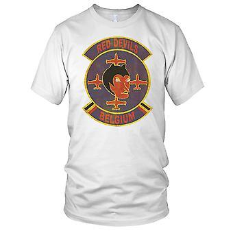 Red Devils Air Force Display Grunge Ladies T Shirt