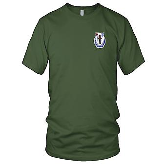 US Army - 182nd Infantry Regiment Embroidered Patch - Mens T Shirt