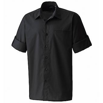 Premier Mens �Roll Sleeve� Poplin Plain Work Shirt