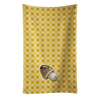 Carolines Treasures  BB7214KTWL Straw Mushroom on Basketweave Kitchen Towel