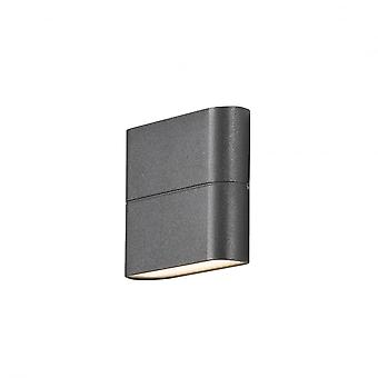 Konstsmide Chieri Wall Washer Garden Wall Light, Grey
