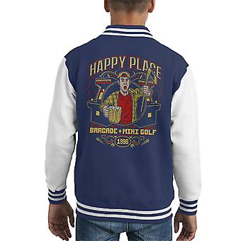 Happy Gilmore Happy Place Barcade Kid's Varsity Jacket