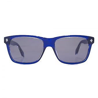 Alexander McQueen Ghost Skull Square Sunglasses In Blue