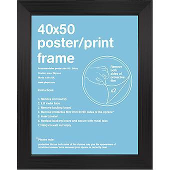 40x50cm Square Black Satin Mini Frame