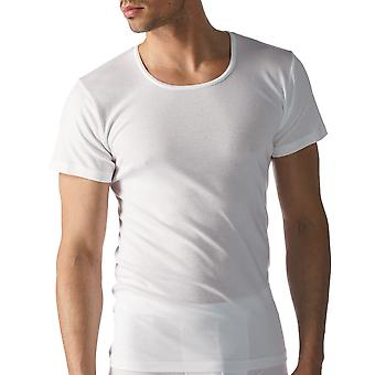 Mey 49002-101 Men's Casual Cotton White Solid Colour Short Sleeve Top