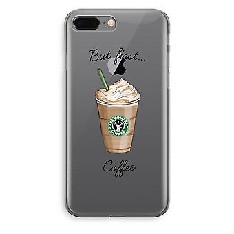 iPhone 8 Plus Transparant ärendet (Soft) - men första kaffe