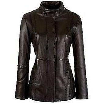 Halli Womens Leather Coat