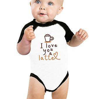 Love A Latte Baby Raglan Shirt Cute Baby Raglan Tee Baby Gifts