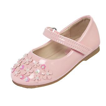 أحذية راقصة بآلية مناسبة براءات الاختراع الوردي البنات الرضع