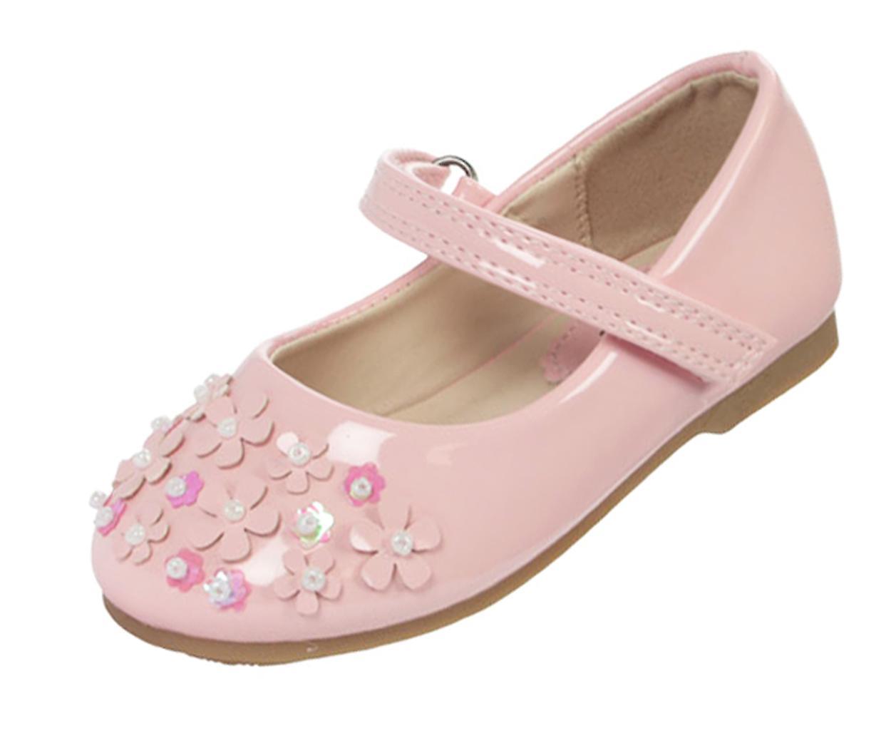 Infant girls rosa patent occasion ballerina scarpe | Louis, in dettaglio  | Scolaro/Signora Scarpa