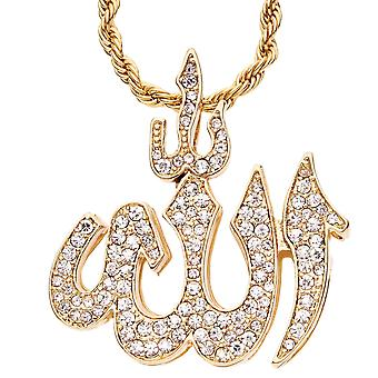 Iced out bling hip hop chain - ALLAH gold