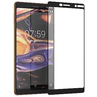 Nokia 7 Plus vetro Screen Protector (singolo) - bordo nero