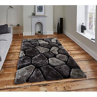 Kullerstenarna svart grå matta
