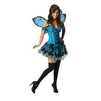 Fantasy Fairy Blue Butterfly Insect Fairytale Sexy Story Book Women Costume