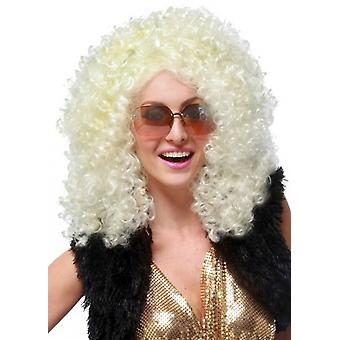 Dancehall Diva Blonde 1970s 1980s Hippie Hippy Disco Women Costume Wig