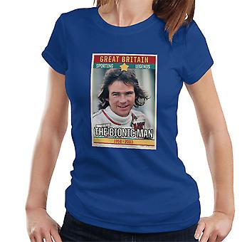 Sporting Legend Poster UK Barry Sheene Bionic Man World Motor Cycle Champion 1977 Women's T-Shirt