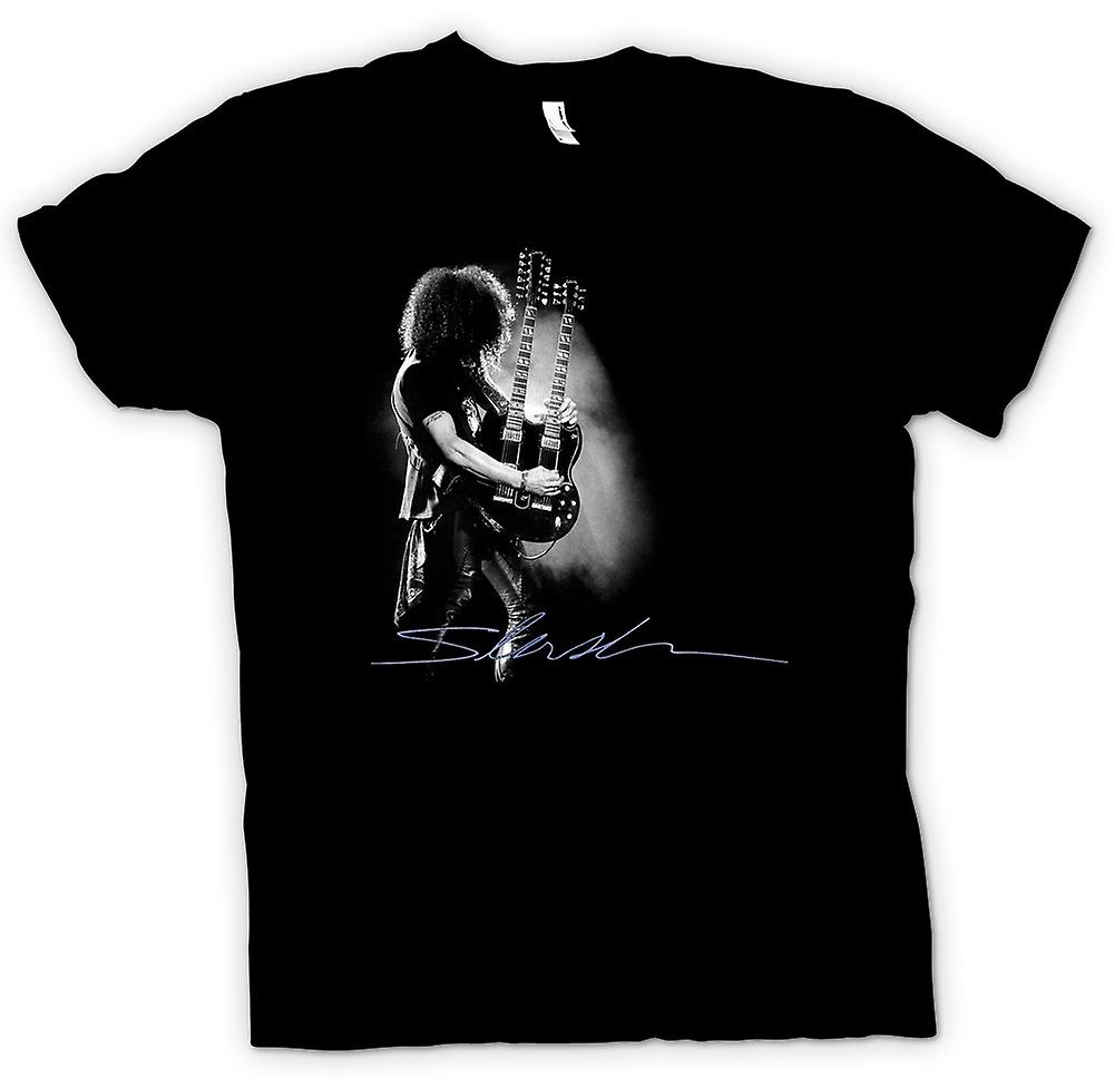 Mens T-shirt - Guns n Roses - Slash Twin Guitar