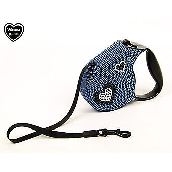 Valentina Valentti Crystallized retractable dog leads extending leash